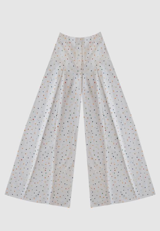 White triangle Pants
